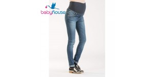 Attesa Maternity Jeans Premaman Super Stretch in Viscosa Baby House